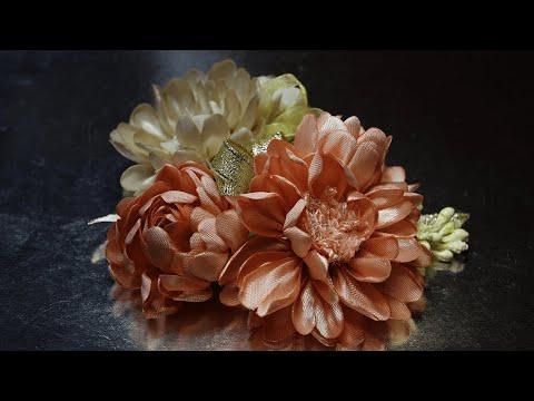 آموزش ساخت گل های فوق زیبا و طبیعی روبانی همراه با ویدئو بی کلام