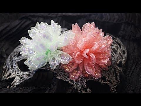 آموزش ساخت گل های فوق زیبای روبانی برای گل سر همراه با ویدئو بی کلام