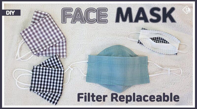 آموزش برش و دوخت ماسک سه بعدی فیلتر دار در دو سایز همراه با الگو و ویدئو بی کلام