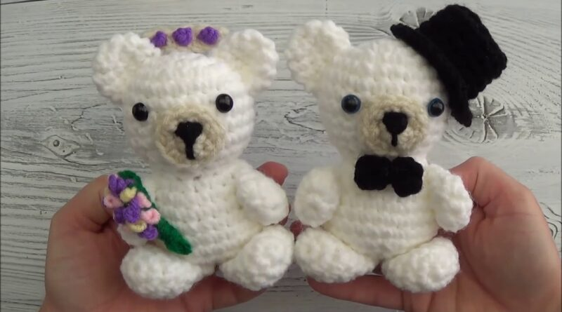 خرس کوچولوهای عاشق/ آموزش بافت عروسک سطح مبتدی همراه با ویدئو به زبان انگلیسی