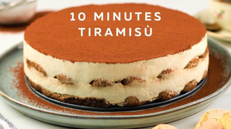 چطور در ده دقیقه ترامیسو تهیه کنیم/ طرز تهیه تیرامیسو بدون تخم مرغ ساده/ معرفی دستورپخت های پرطرفدار جهان با ترجمه کامل