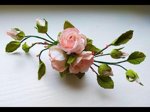 آموزش کامل ساخت شاخه گل رز طبیعی/ بی کلام