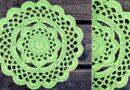 آموزش بافت رومیزی دایره ای گل دار همراه با ویدئو کامل و بی کلام